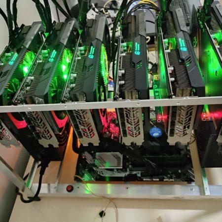 Rig Mineria Criptomonedas GPU AMD Radeon RX5700XT