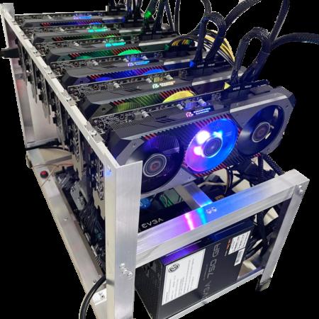Rig Minería Criptomonedas RTX 5700 XT
