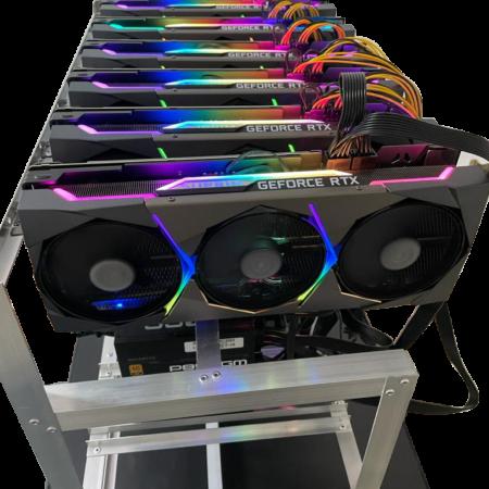 Rig Minero para Criptomonedas de 6 Placas de Video Nvidia RTX 3070 Suprim Expandible a 12 GPU